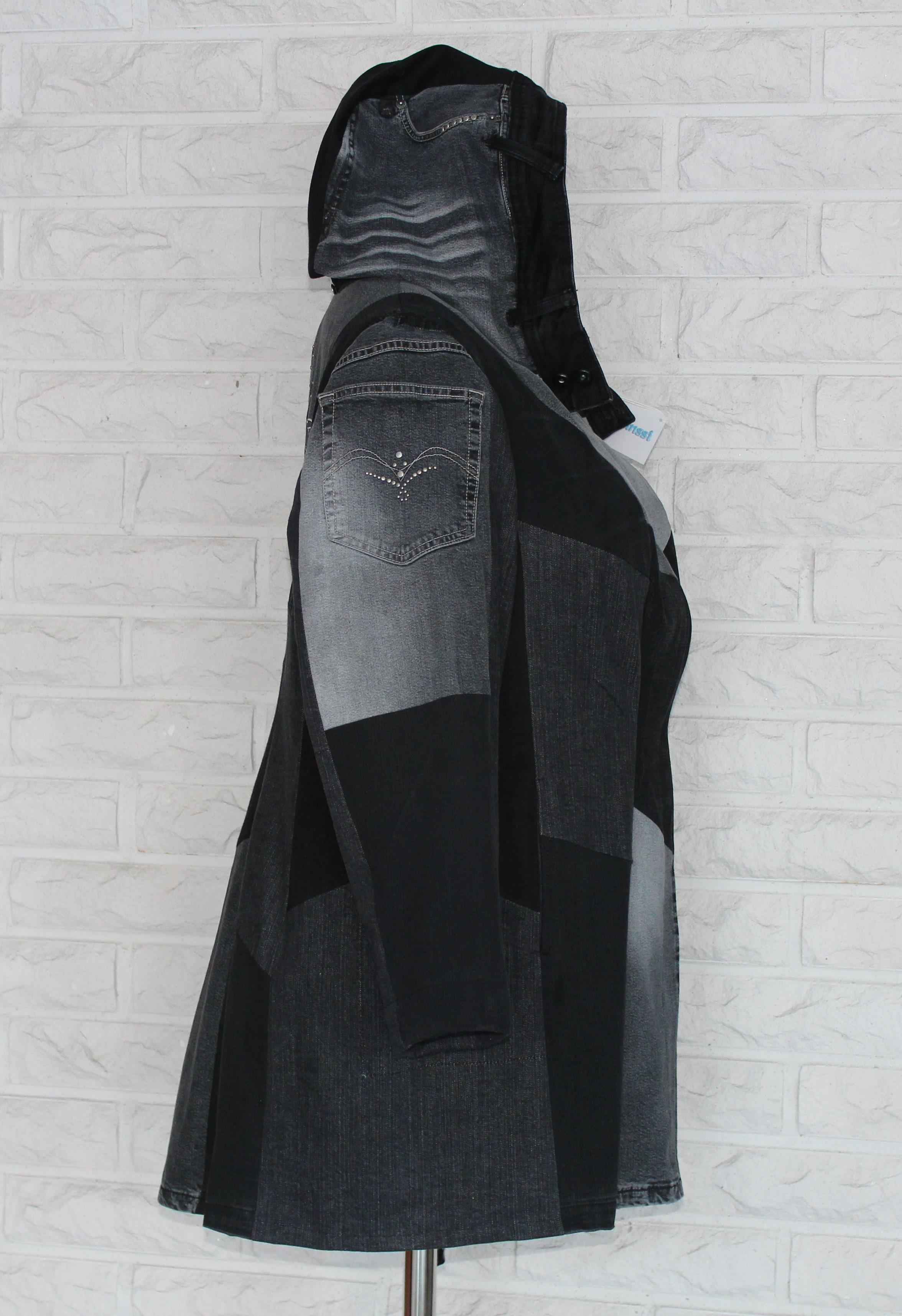 musta-harmaa takki sivu