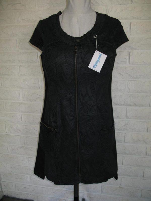 Heleganssi-naisten mekot ja tunikat-tarja-supinen-musta-tunika-etu-e1554993620612