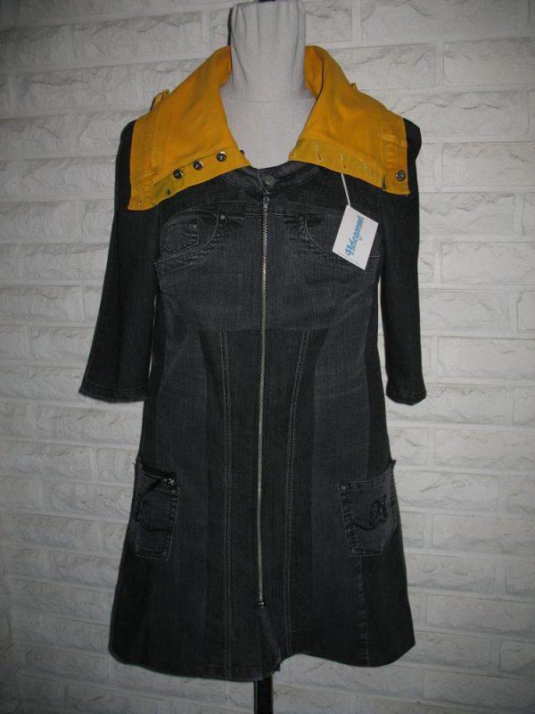 Heleganssi-naisten mekot ja tunikat-ulla-remes-farkkumekko-etu-kauluksella-e1554994835771